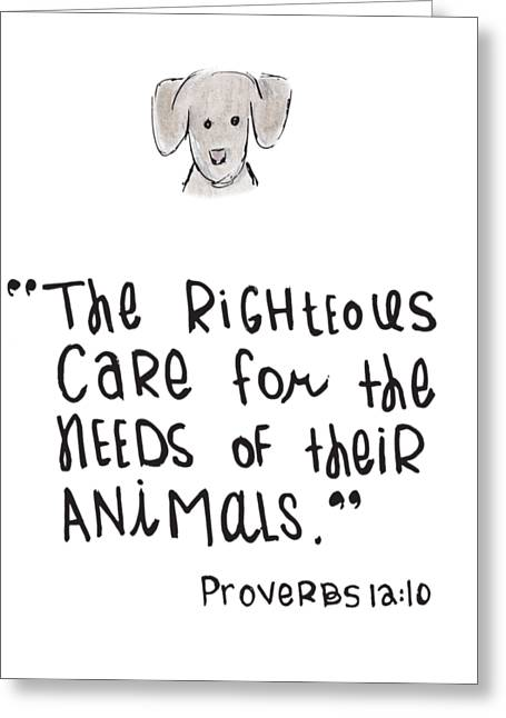 Care For Animals Greeting Card