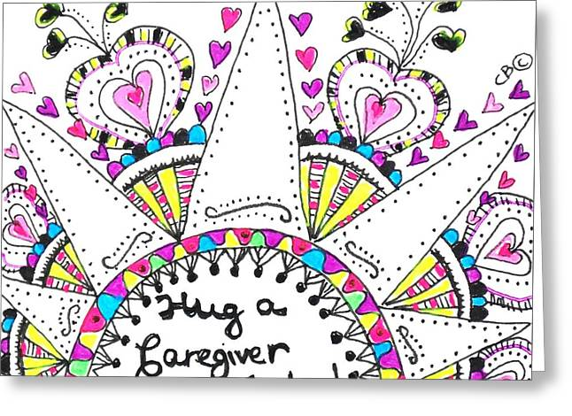 Caregiver Crown Of Hearts Greeting Card
