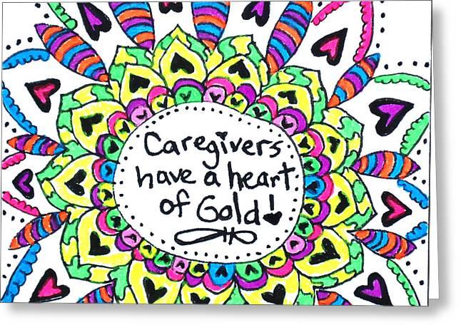 Caregiver Flower Greeting Card