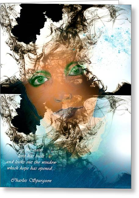 Plastic Mixed Media Greeting Cards - Caregiver Greeting Card by Patricia Motley