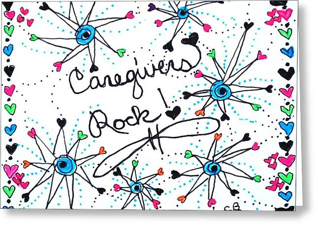 Caregivers Rock Greeting Card