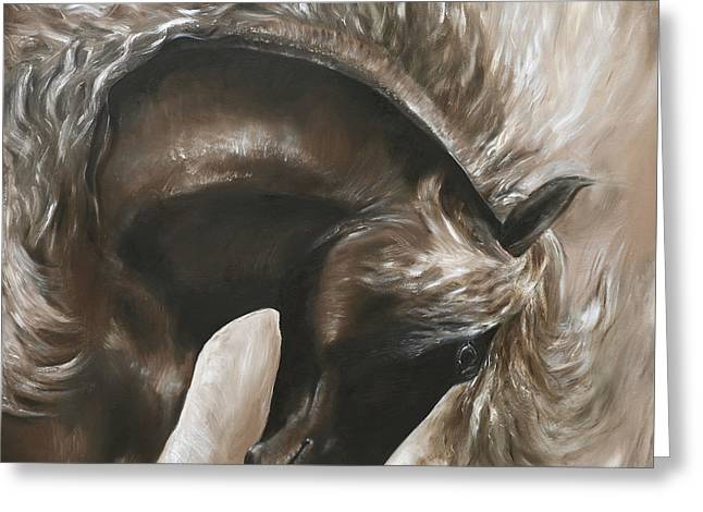 Careless And Free Greeting Card by Paula Collewijn -  The Art of Horses