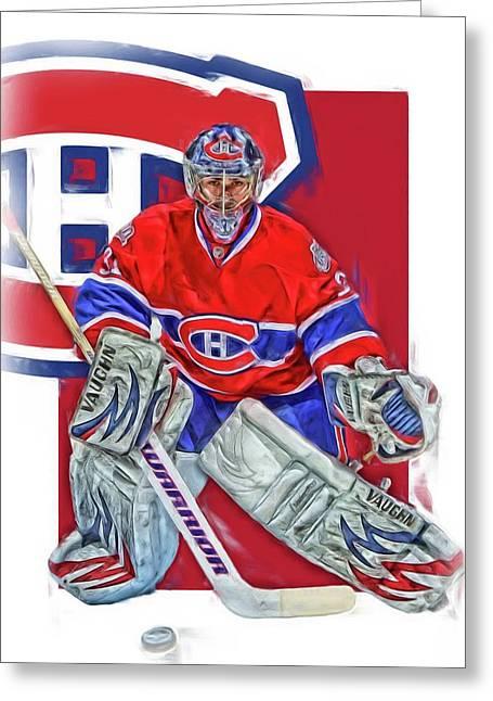 Carey Price Montreal Canadiens Oil Art Greeting Card