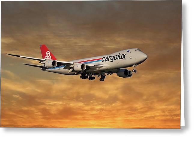 Cargolux Boeing 747-8r7 2 Greeting Card