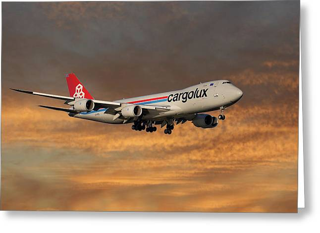 Cargolux Boeing 747-8r7 3 Greeting Card