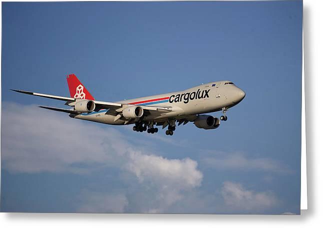 Cargolux Boeing 747-8r7 4 Greeting Card