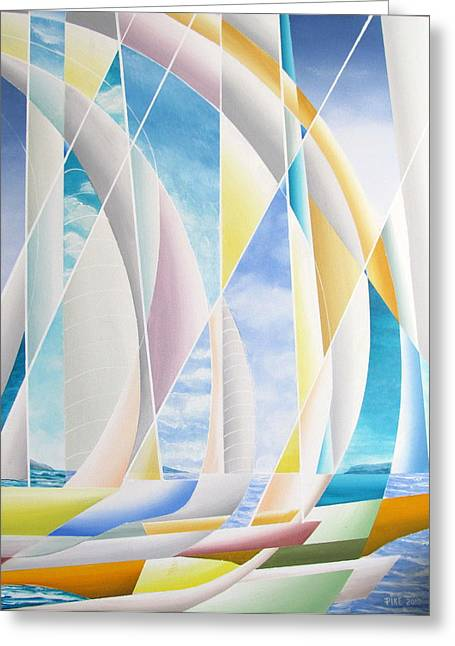 Greeting Card featuring the painting Caribbean Afternoon by Douglas Pike