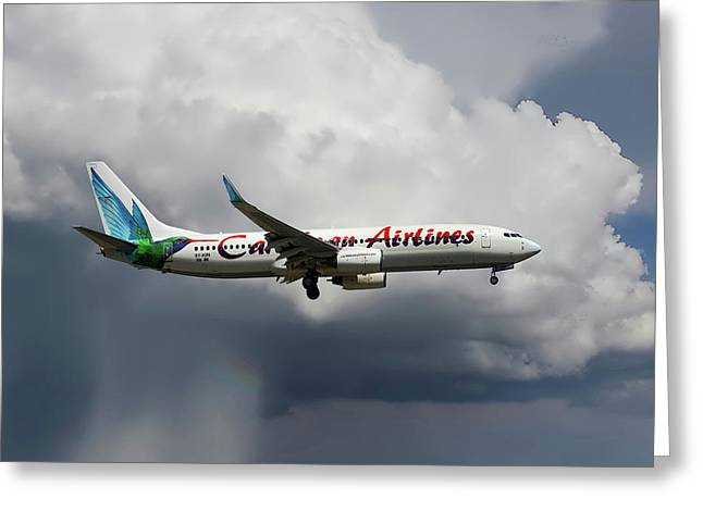 Caribbean Airlines Boeing 737-8q8 Greeting Card
