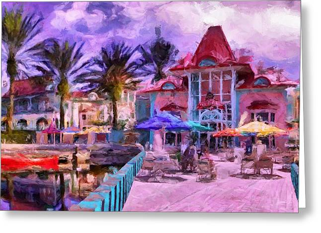 Caribbean Beach Resort Greeting Card