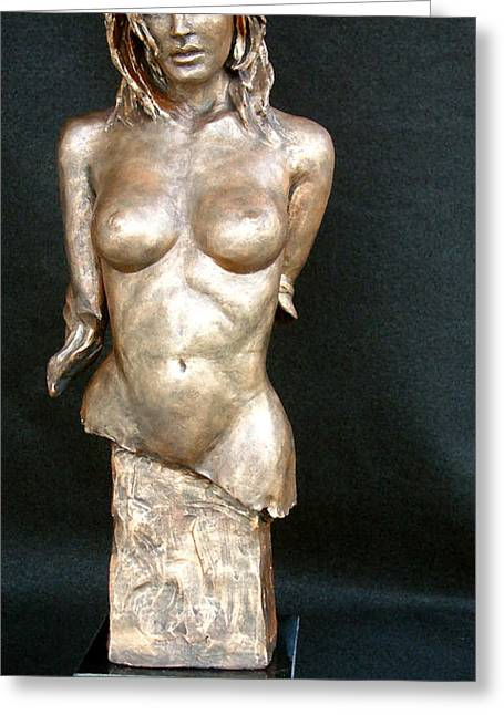 Women Sculptures Greeting Cards - Caribbean Beauty Greeting Card by Wayne Headley
