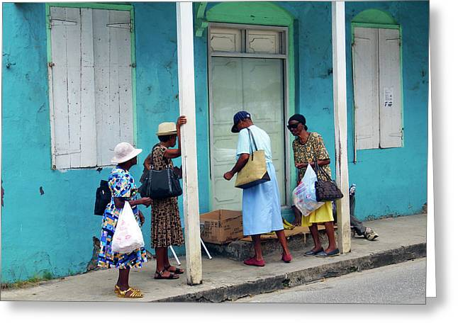 Greeting Card featuring the photograph Caribbean Blue, Speightstown, Barbados by Kurt Van Wagner