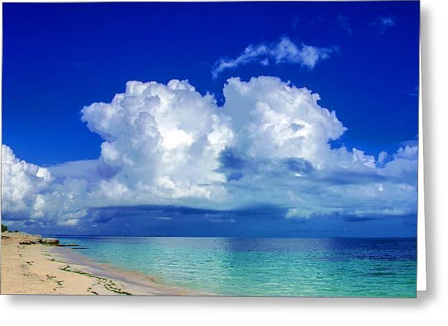 Caribbean Clouds Greeting Card