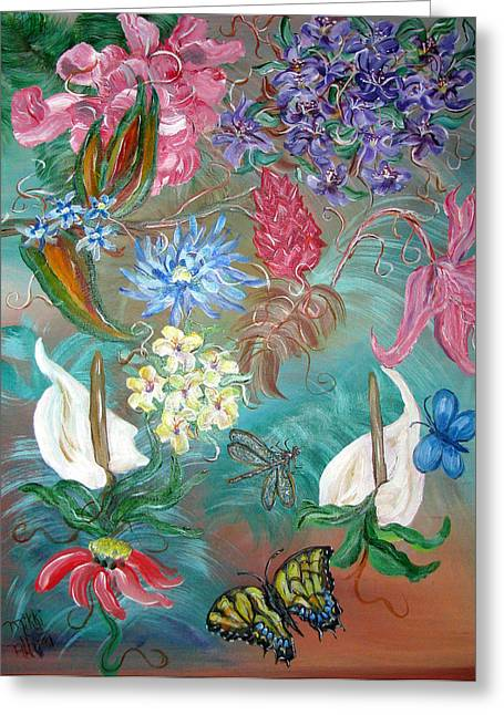 Caribbean Delight Greeting Card by Mikki Alhart