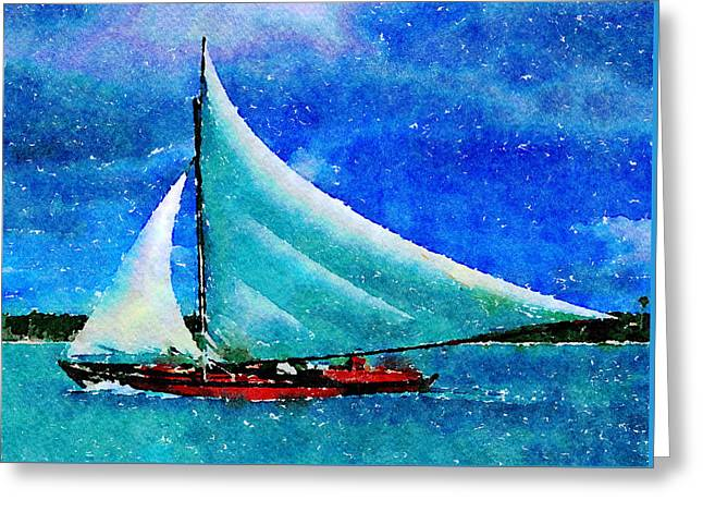Greeting Card featuring the painting Caribbean Dream by Angela Treat Lyon