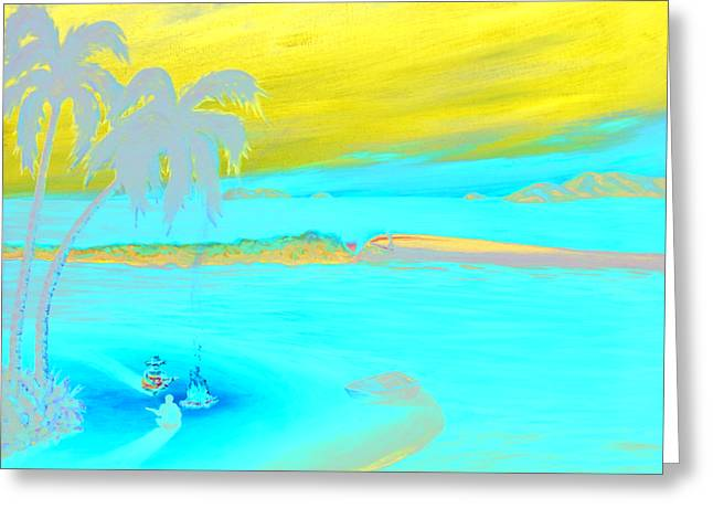Caribbean Dreaming Greeting Card by Patrick Parker