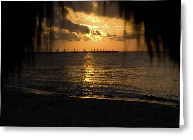 Caribbean Early Sunrise 5 Greeting Card by Douglas Barnett