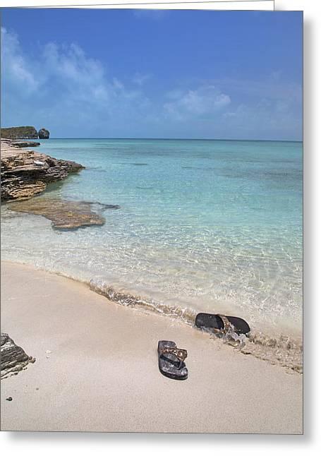 Caribbean Flippin Flops Greeting Card by Betsy Knapp