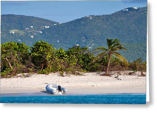 Caribbean Island Greeting Card by Louise Heusinkveld
