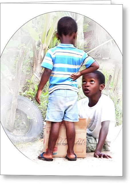 Caribbean Kids Illustration Greeting Card