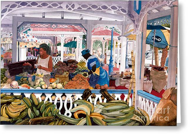 Caribbean Market Greeting Card