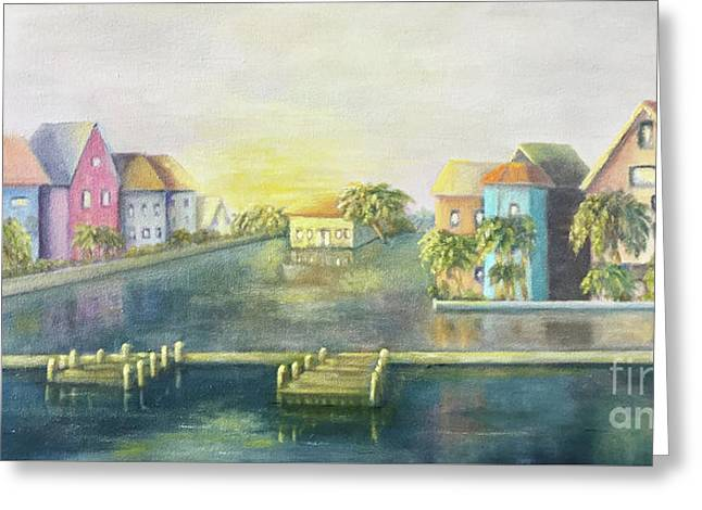 Greeting Card featuring the painting Caribbean Morning  by Marlene Book