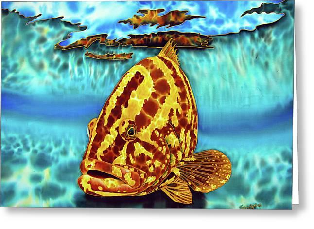 Caribbean Nassau Grouper  Greeting Card by Daniel Jean-Baptiste