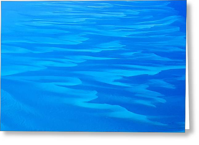 Greeting Card featuring the photograph Caribbean Ocean Abstract by Jetson Nguyen