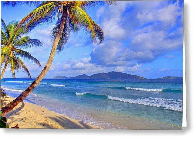 Virgin Islands Greeting Cards - Caribbean Paradise Greeting Card by Scott Mahon
