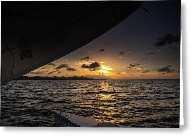 Caribbean Sail St Croix Greeting Card