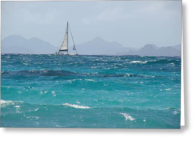 Greeting Card featuring the photograph Caribbean Sailing by Margaret Bobb
