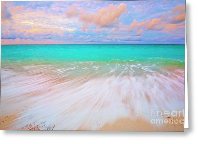 Caribbean Sea At High Tide Greeting Card