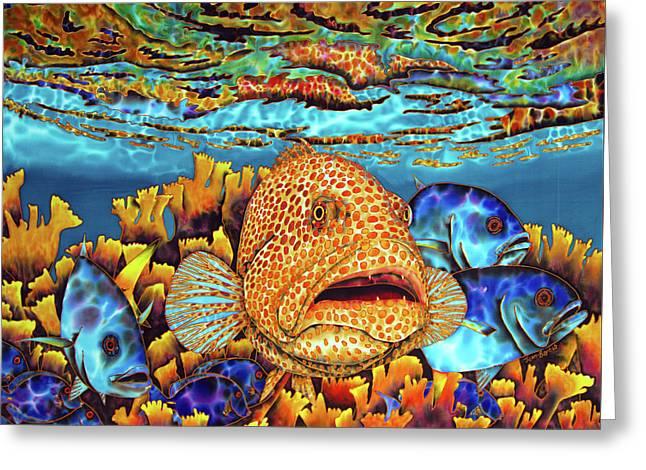 Caribbean Sea - Eden Greeting Card by Daniel Jean-Baptiste