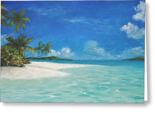 Caribbean Seclusion Greeting Card