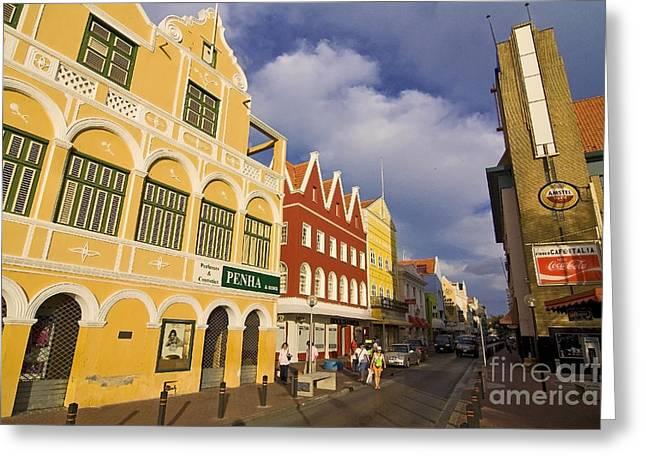 Caribbean Shopping District Greeting Card by Sven Brogren