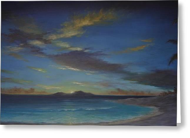 Caribbean Sunset By Alan Zawacki Greeting Card