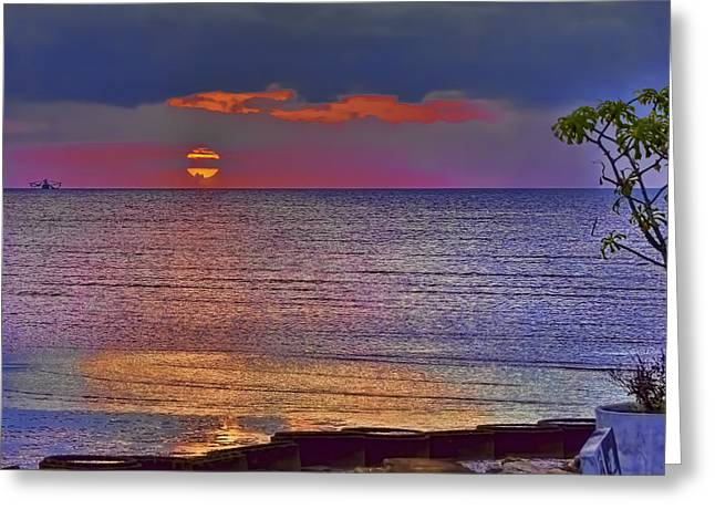 Caribbean Sunset Greeting Card