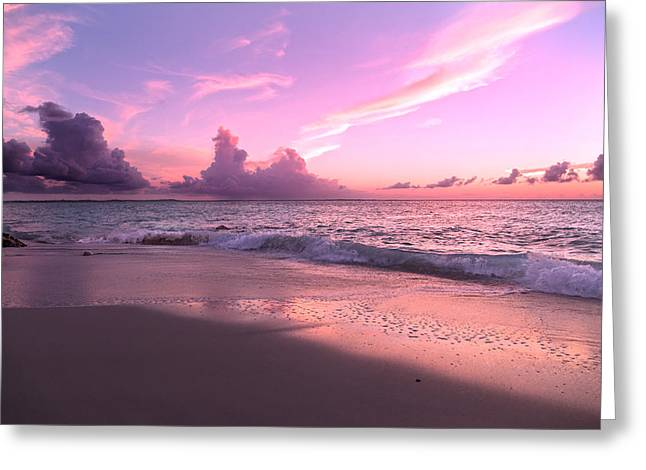 Caribbean Tranquility  Greeting Card by Betsy Knapp