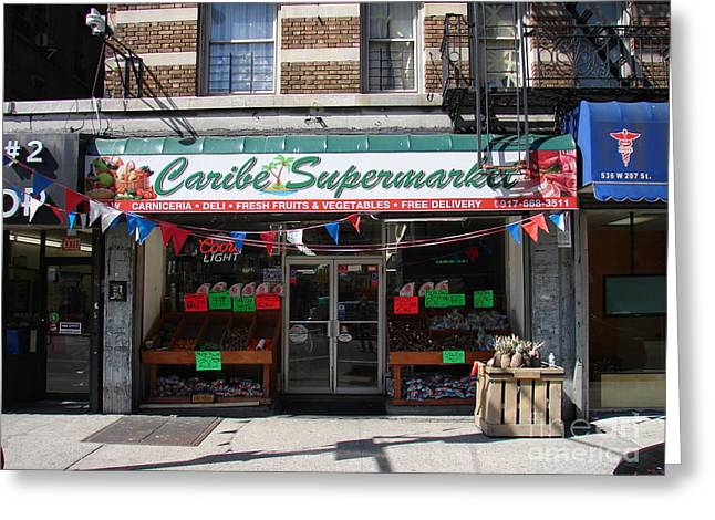 Greeting Card featuring the photograph Caribe Supermarket by Cole Thompson