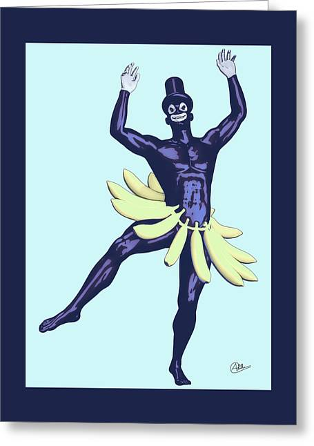Caribean Showman Greeting Card by Quim Abella