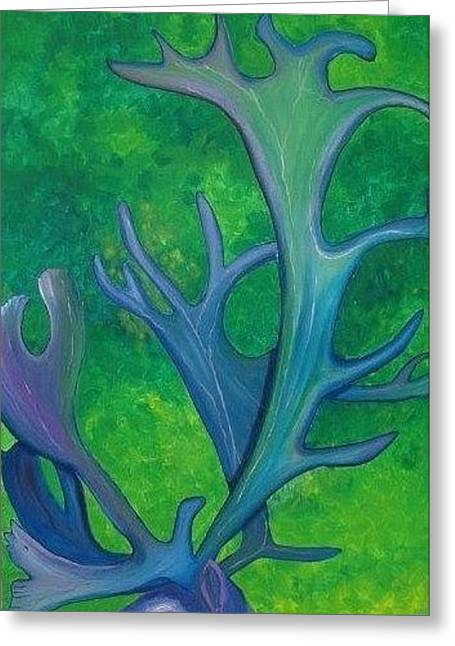 Cariblue Greeting Card by Amy Reisland-Speer