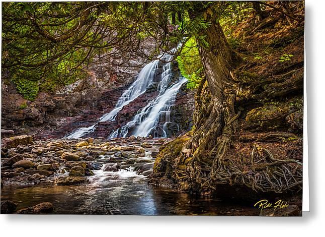 Caribou Falls In Fall Greeting Card