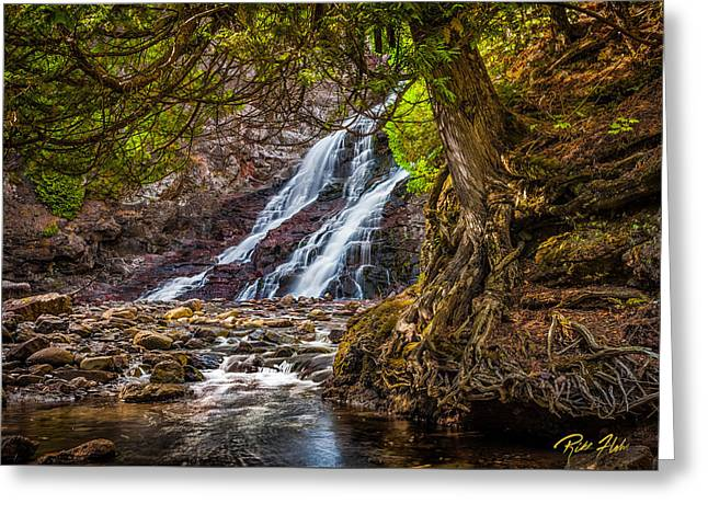 Greeting Card featuring the photograph Caribou Falls In Fall by Rikk Flohr
