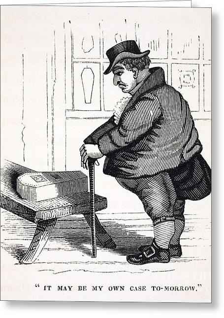 Caricature Of Victorian Mortality, 1836 Greeting Card