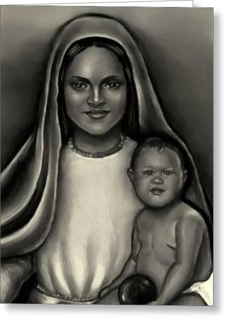 Caridad Del Cobre-lady Of Charity Greeting Card
