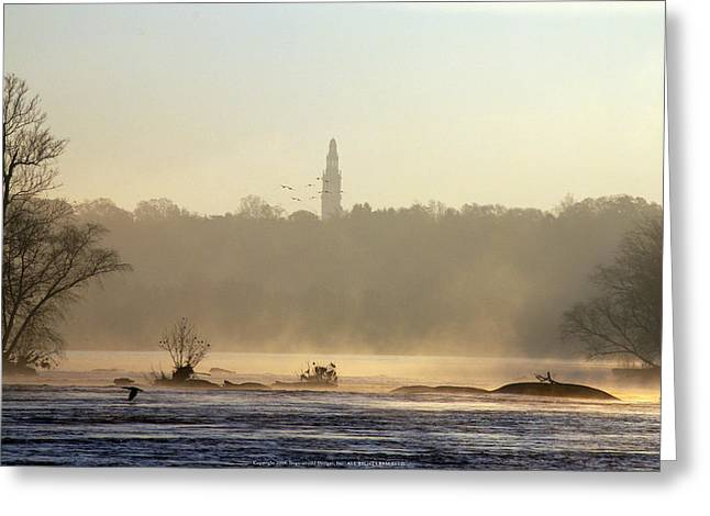 Carillon Mist Greeting Card by Kelvin Booker