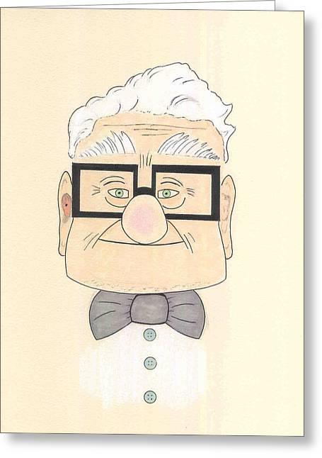 Carl Fredricksen Greeting Card by David Seter