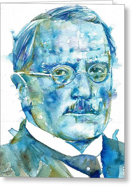 Carl Jung - Watercolor Portrait.6 Greeting Card