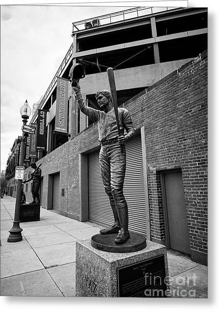 carl yastrzemski yaz statue at Fenway park home of the Boston Redsox USA Greeting Card