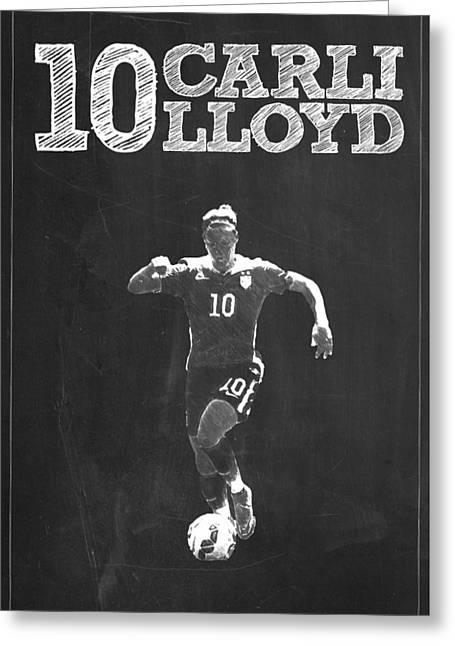 Carli Lloyd Greeting Card by Semih Yurdabak