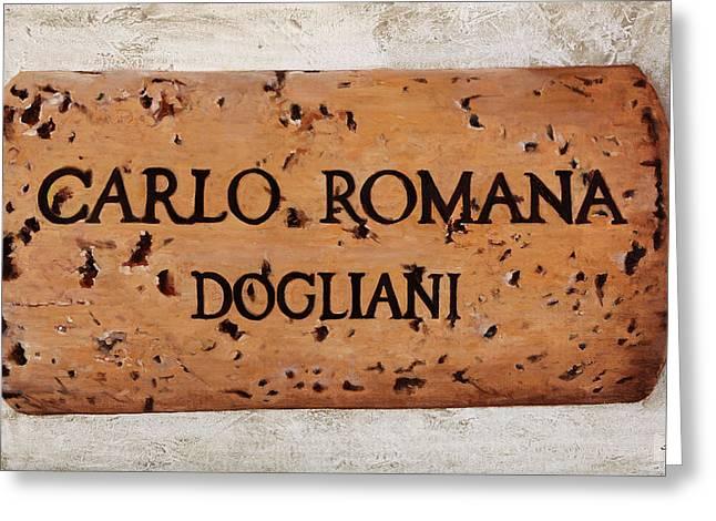 Carlo Romana Dogliani Greeting Card by Danka Weitzen